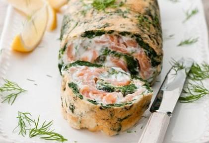 roulades saumon aux épinards